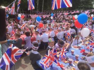 Thurrock Gazette: Over 700 Belmont Castle Academy kids gather to celebrate the Queen's Birthday in style