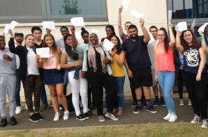 Thurrock Gazette: Harris Academy students celebrate their 100% A-level pass rate